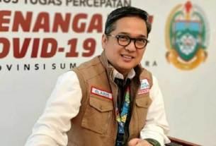 Juru Bicara Satgas Penanganan Covid-19 Provinsi Sumut, dr Aris Yudhariansyah.