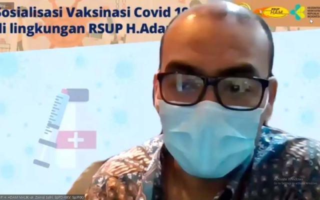 Direktur Utama RSUP HAM, dr Zainal Safri SpPD-KKV SpJP (K).