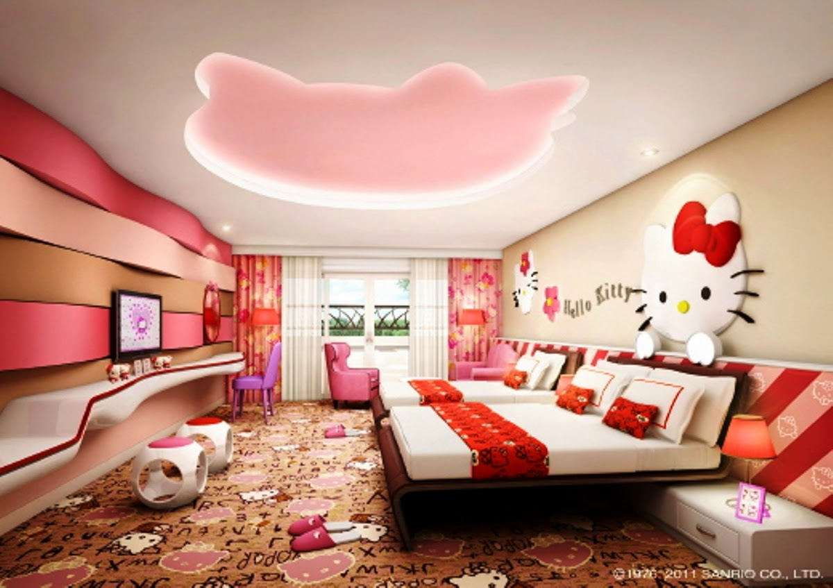 Desain Kamar Tidur Hello Kitty Keren Untuk Perempuan