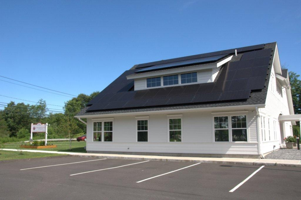 Commercial-Solar-On-Asphalt-Roof Solar Installer Monroe, CT
