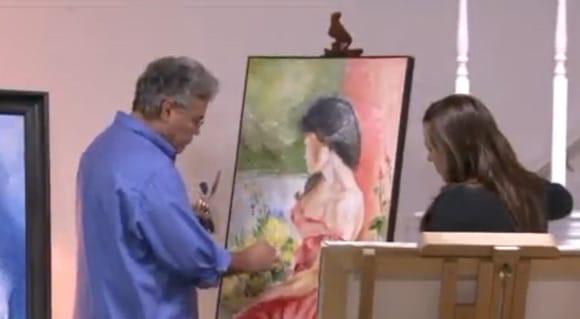Венесуальско-американский художник Сержио Портилло создаёт картины, добавляя в краску человеческий пепел