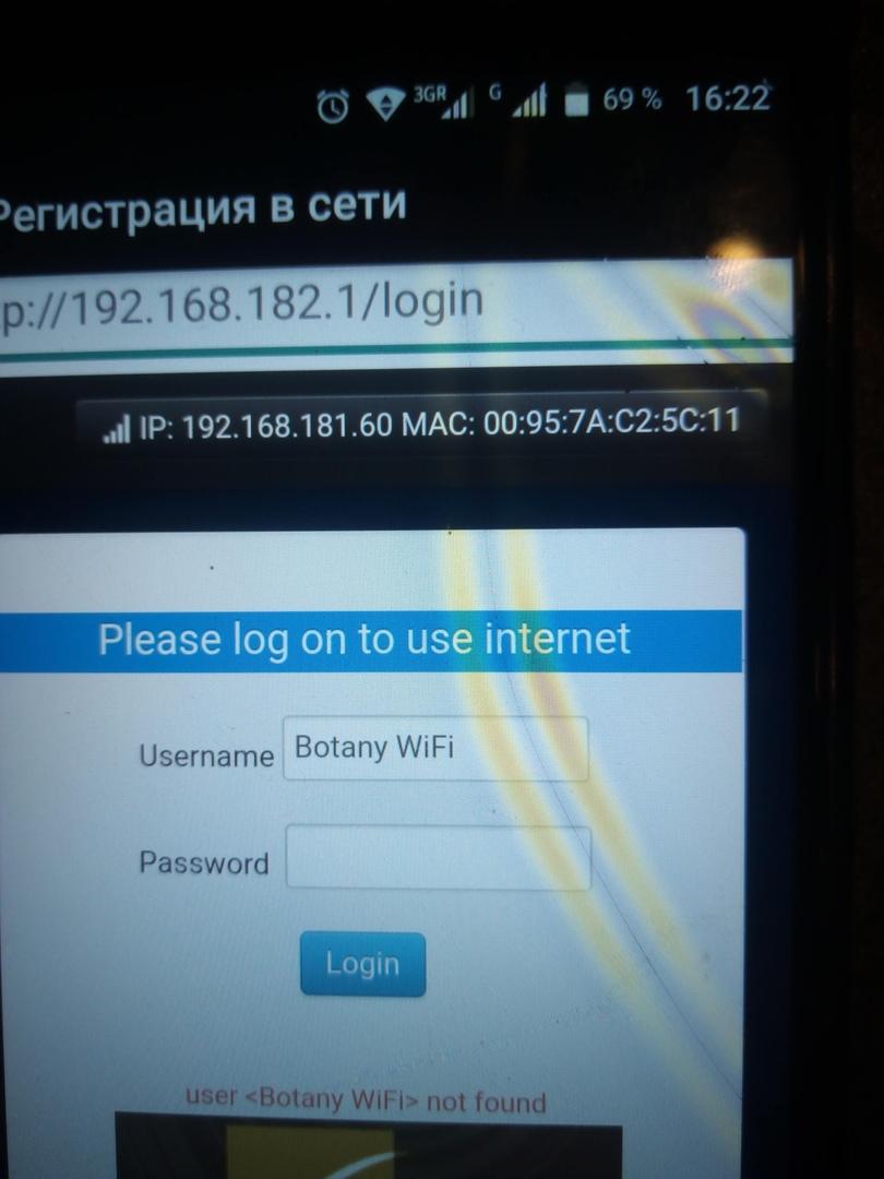 Интернет в отеле Ботани