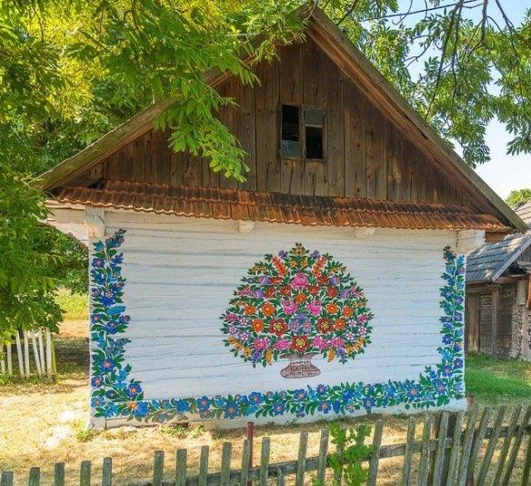 Маленькая деревня в Польше Залипье