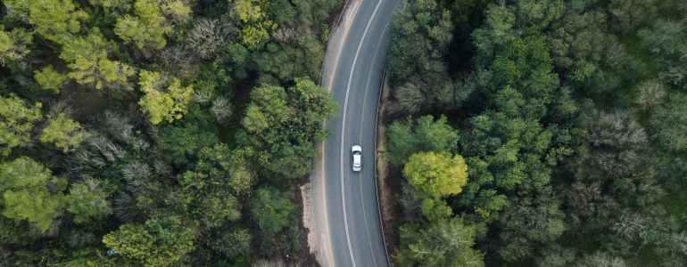 wood cars road landscape