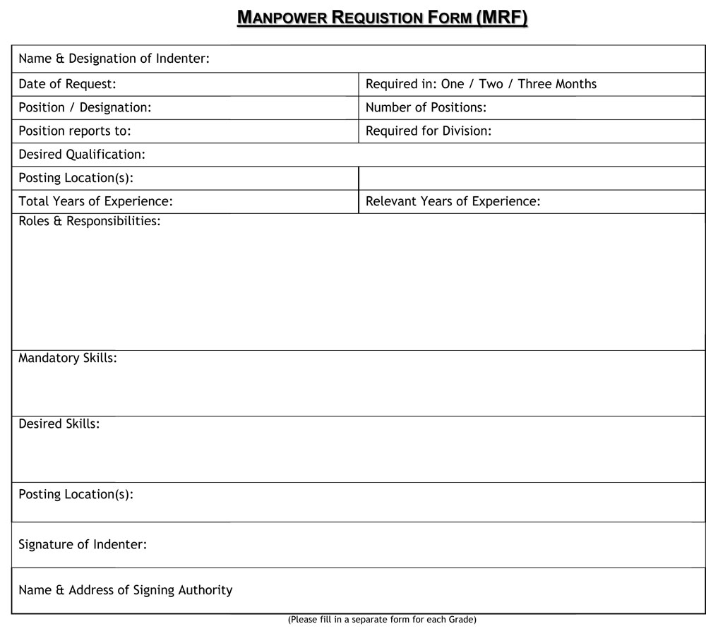 employment requisition form sample - April.onthemarch.co