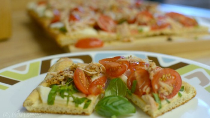 Caprese Pizza with Rotisserie Chicken recipe with 6 ingredients or less