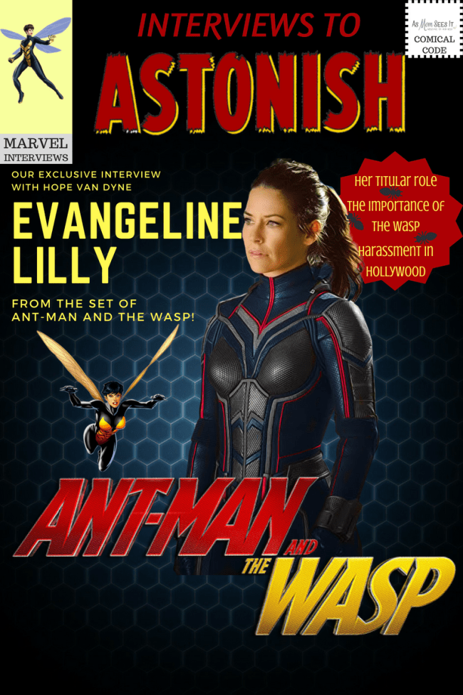 Interview with Evangeline Lilly on the set of Ant-Man and the Wasp