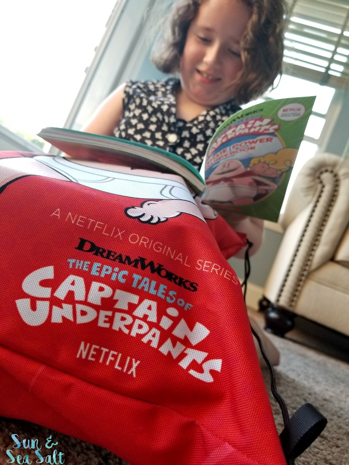 My daughter dove right into the Captain Underpants summer fun pack from Netflix