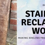 DIY: How To Make Reclaimed Wood Shelves
