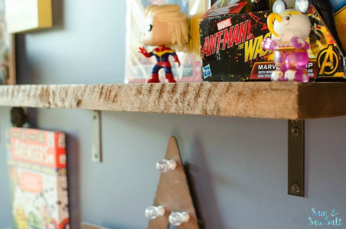 The new DIY rustic shelf brackets were perfect!