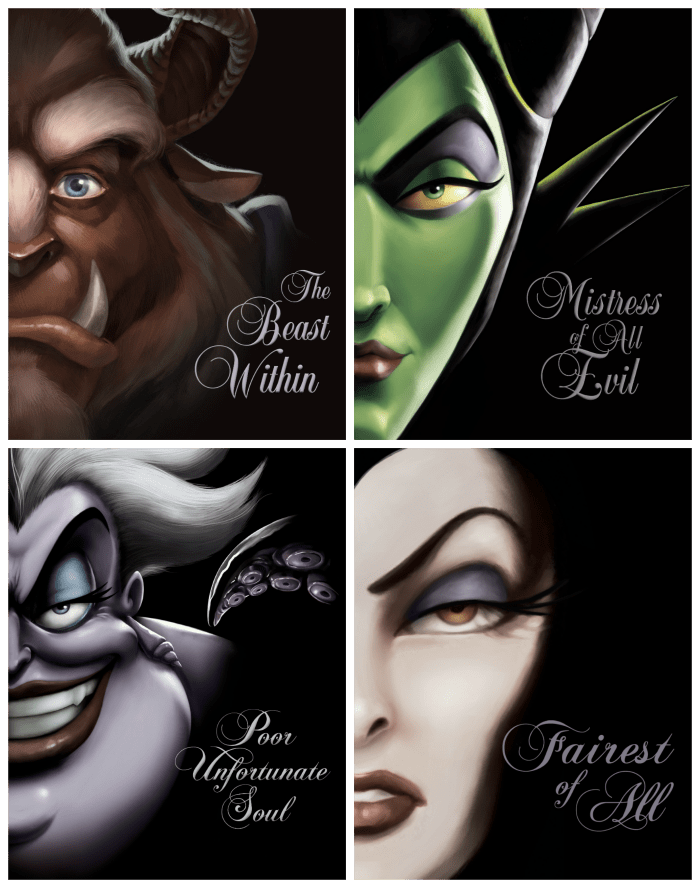 Disney Villain Books Series by Serena Valentino and Disney Hyperion
