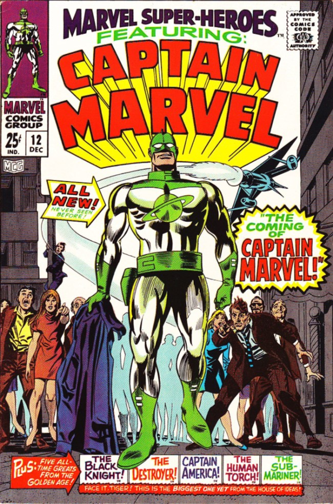 First comic book appearance of Captain Marvel