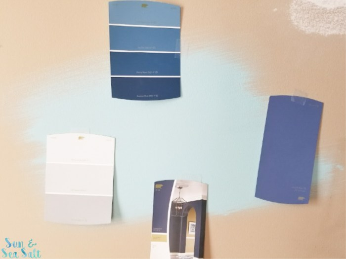 It was a bold color choice, but once I put it on our wall, we loved it!