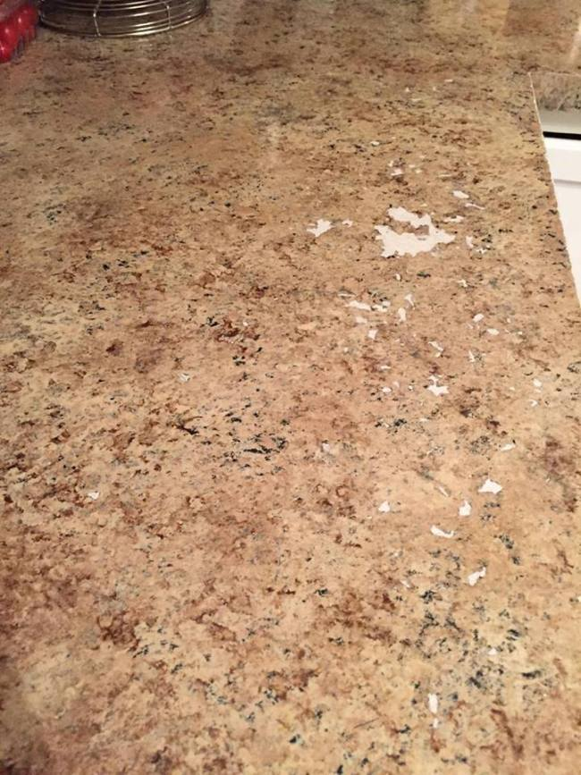 How Giani Countertop Paint withstood two years of use