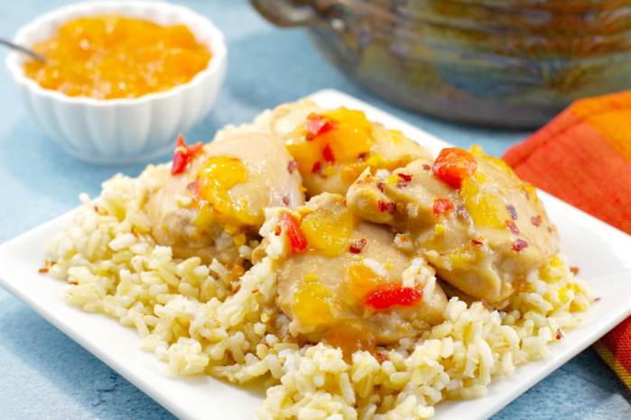 Easy Apricot Chicken recipe with 7 ingredients or less