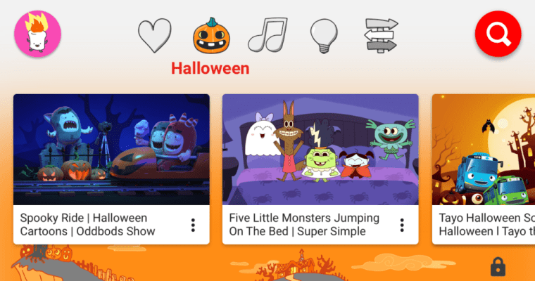 YouTube Kids Adds Family Friendly Halloween Content