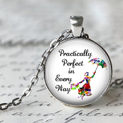 Handmade Necklace,Mary Poppins Perfect in Pendant Necklace