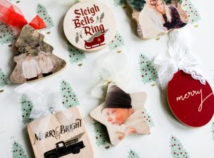 Shaped personalized ornaments