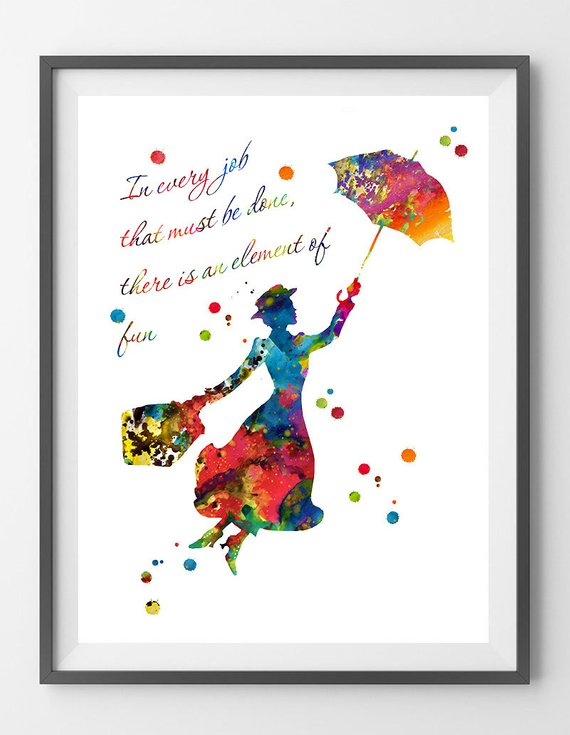 Mary Poppins watercolor
