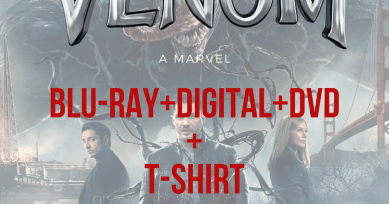Venom Blu-ray™ Combo Pack And T-Shirt Giveaway