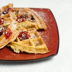 The Best Homemade Peanut Butter and Banana Waffles Recipe