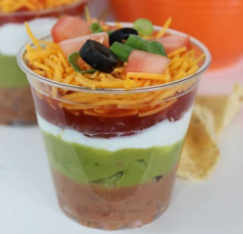 Individual 7 Layer Dip Cups Recipe – a Perfect Party Appetizer!