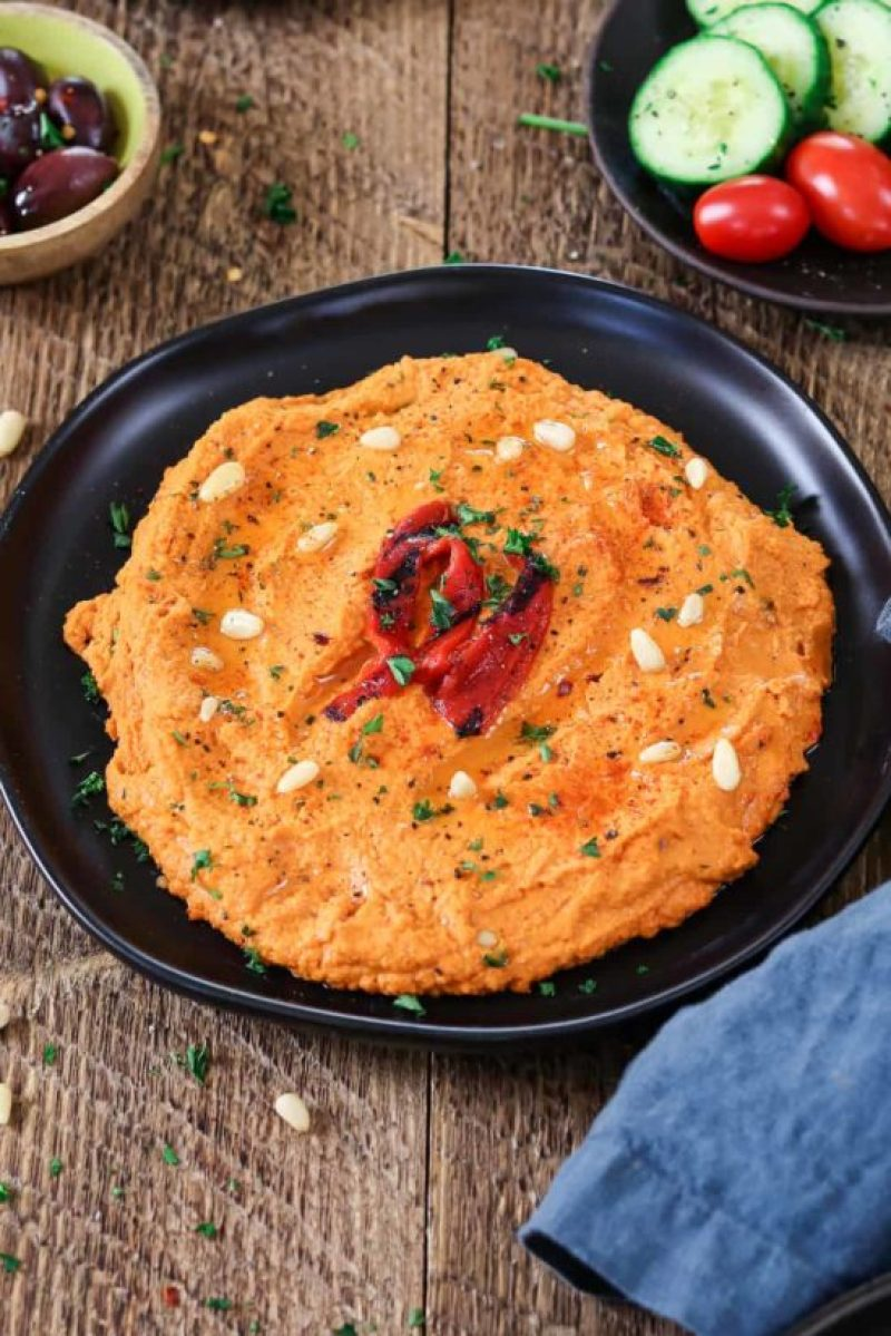 Roasted Red Pepper Hummus gives variety to Super Bowl Snacks