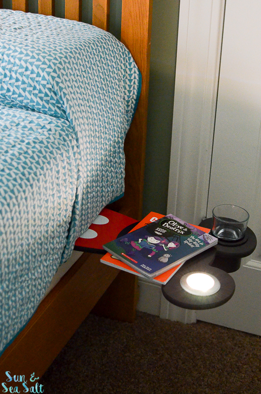 Mickey Shelf portable nightstand and snack tray