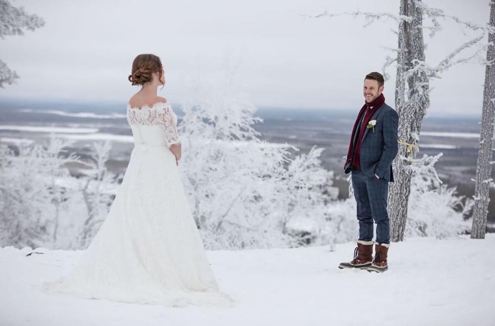 Glass Igloo Wedding  Sun  Snow Weddings