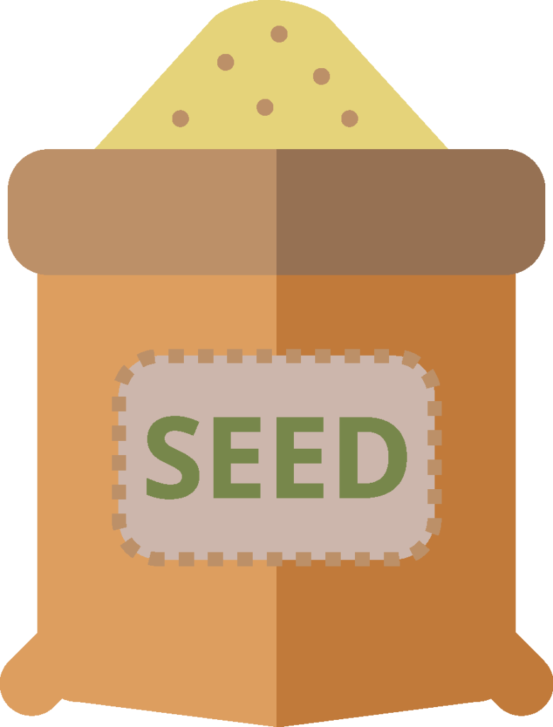 Illustration of a seed bag.