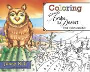 Coloring Who-o-o's Awake In The Desert, With Word Searches
