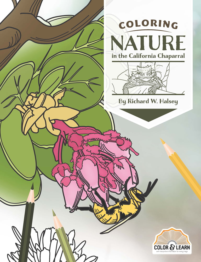 Book Cover: Coloring Nature: in the California Chaparral