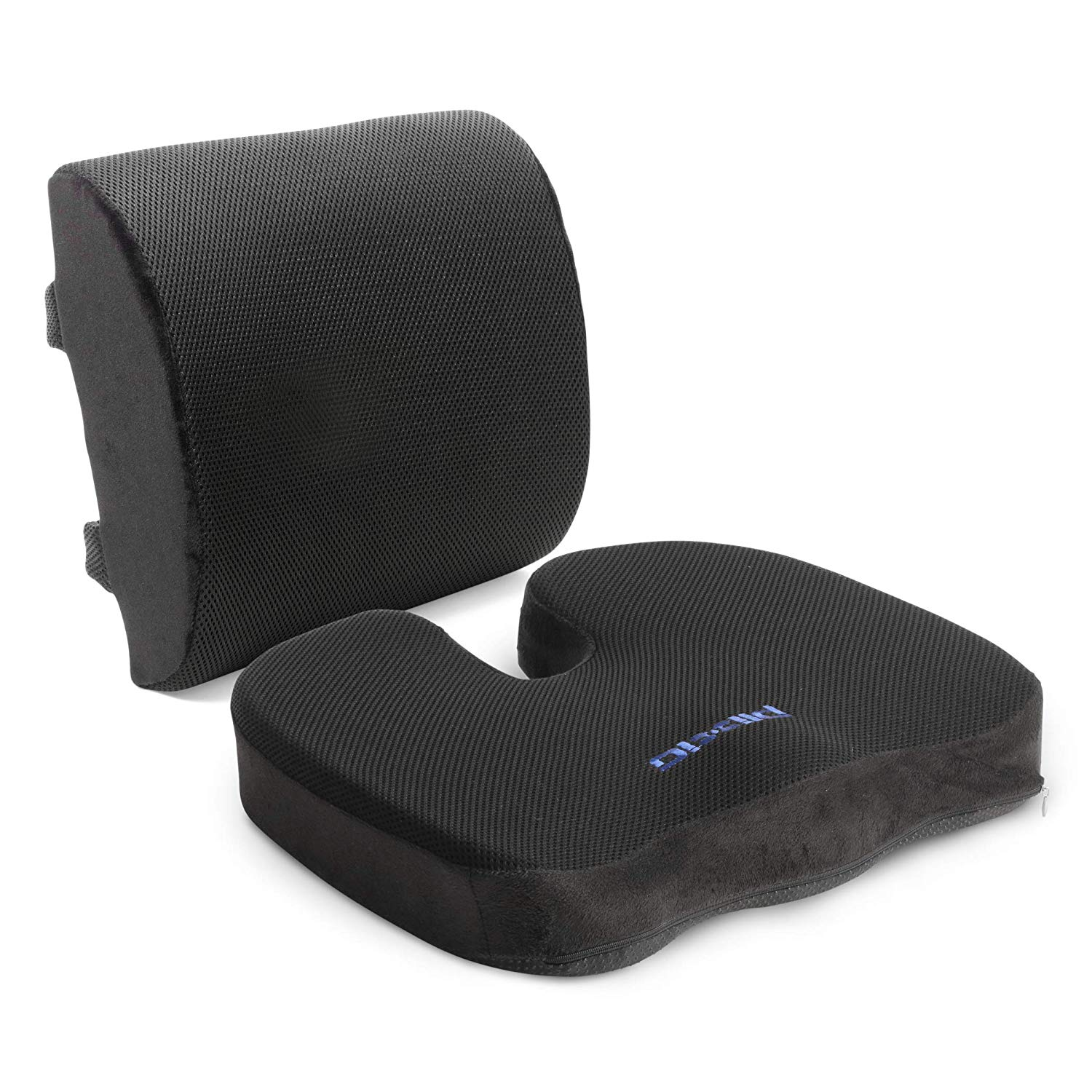 Lumbar Support Pillow For Chair Details About Plixio Memory Foam Seat Cushion And Lumbar Back Support Pillow For Office Or Car