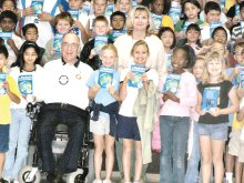 Rotarian Bonnie Whiting at CTA Independent Charter School