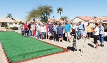 Check out the trial bocce court!