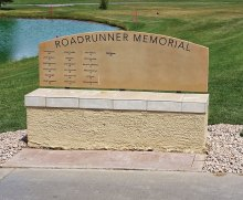 New landscaping around the Roadrunners Golf and Social Club memorial bench