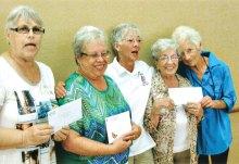 Ruthjon Wick (Chandler Lions), Margaret Speer, Sherry Fann, Gloria Kishen and Agnes Regan