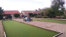 The new bocce courts are waiting for you!