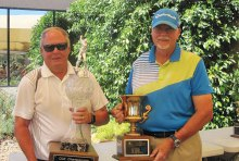 Left to right: John German, SunBird Men's Club Champion, and Bob Johns, SunBird Cup Champion