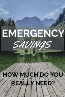 Scary Situations and Emergency Savings