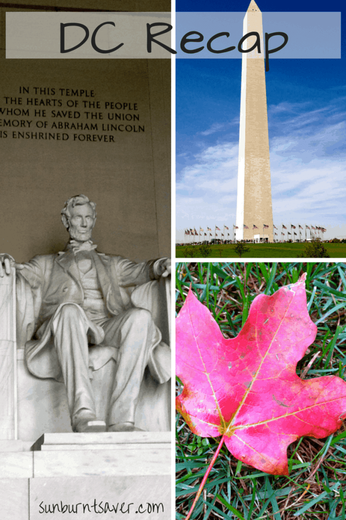 DC Recap for my Virginia/DC Trip - How did I do? via @sunburntsaver