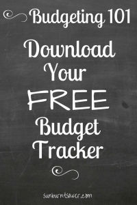 Want to track your income and see where your money goes every month? You need a budget! Download Sunburnt Saver's Budget Tracker here!