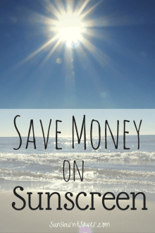 Save Money on Sunscreen