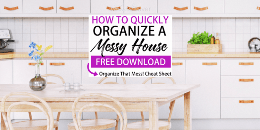 Cleaning up after a long day is tough, but it doesn't have to take you hours! Here's how you can quickly organize a messy house - complete with a checklist!