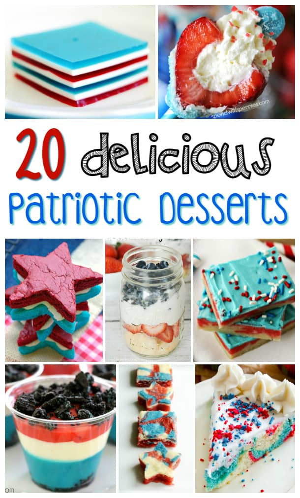 Looking for some patriotic desserts to bring to your 4th of July party? Check out these delicious and easy Fourth of July dessert party ideas!