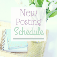 New Posting Schedule!
