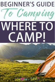 Beginner's Guide to Camping: Where to Camp?