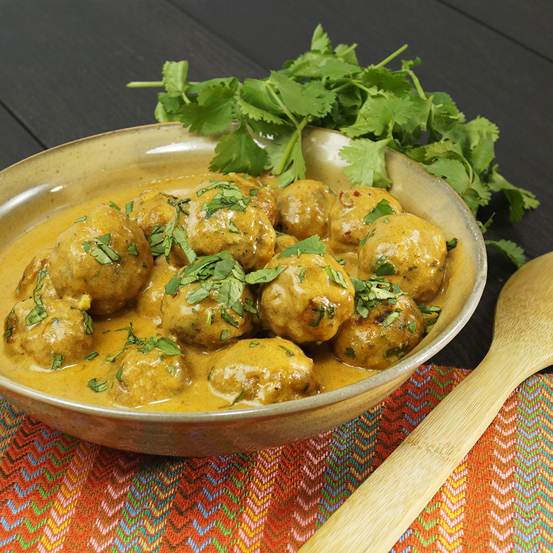 SunButter Curry Meatballs