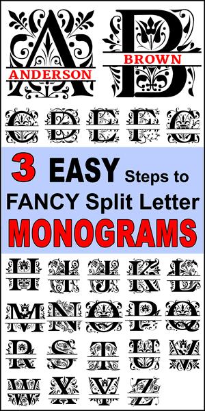 K Monogram Svg Free : monogram, Fancy, Split, Monogram, Letters, Patterns,, Monograms,, Stencils,, Projects