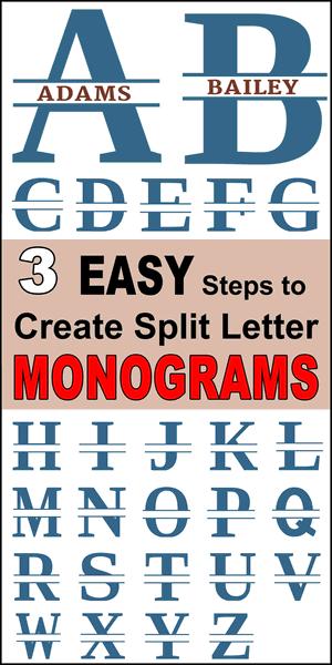 K Monogram Svg Free : monogram, Split, Letter, Stencil, Monogram, Maker, Patterns,, Monograms,, Stencils,, Projects
